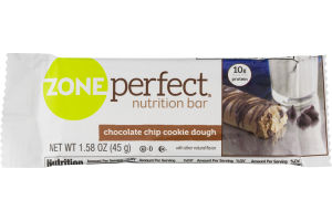 ZonePerfect Nutrition Bar Chocolate Chip Cookie Dough