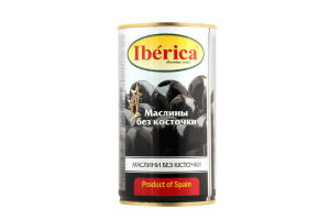 Оливки Iberica чорні величезні б/к 360г х24