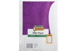 "Smart Living 10.5"" X 8"" Filler Paper College Ruled - 150 CT"