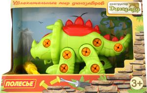Конструктор для детей от 3-х лет №76816 Динозавр Трицератопс Полесье 1шт