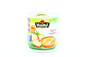 Пюре для детей от 7мес Индейка Hame ж/б 100г