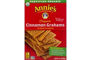 Annie's Homegrown Organic Grahams Crackers Cinnamon