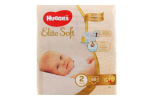 Подгузники Elite Soft Huggies 2 4-6кг 88шт