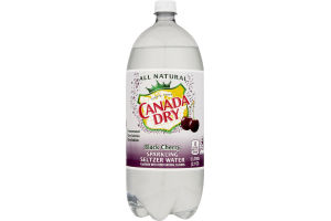 Canada Dry Sparkling Seltzer Water Black Cherry