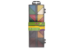 Краски акварельные медовые без кисточки 18 цветов №ZB.6523-01 Zibi 1шт
