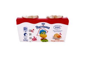 Йогурт 2,0% з фруктовим наповнювачем банан Растишка 248г