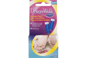 Dr. Scholl's DreamWalk Express Pedi Foot Smoother Replacement Rollers - 2 CT
