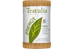 Teatulia Organic Teas Energy Green Tea Bags - 30 CT