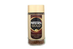 Кофе натуральный растворимый сублимированный с добавлением жареного молотого Gold Nescafe с/б 190г