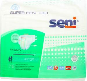"""Підгузки д/дорослих Seni Syper Seni Trio """"4"""" Extra Large 10шт"""