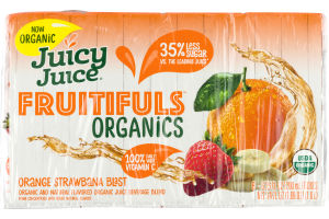 Juicy Juice Fruitifuls Organics Orange Strawbana Blast - 8 CT