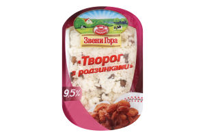 Сир кисломолочний 9.5% з родзинками Звени Гора п/у 200г