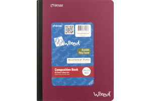 Top Flight Wired Composition Book College Rule - 80 Sheets
