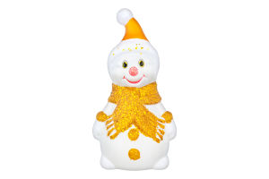 Новорічна прикраса Сніговик в асортименті 29*15см пластик