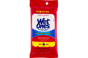 Wet Ones Antibacterial Hand Wipes Fresh Scent - 20 CT
