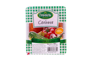 Соления Томаты соленые Грінвіль в/у 850г