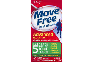 Move Free Joint Health Advanced Plus MSM Coated Tablets - 120 CT