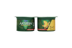 Біфідойогурт 3% персик-мюслі Активіа стакан 115гх4