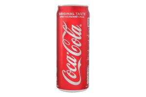 Напій безалкогольний c/газ Coca-Cola з/б 0.33л