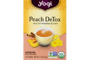 Yogi Tea Peach DeTox - 16 CT