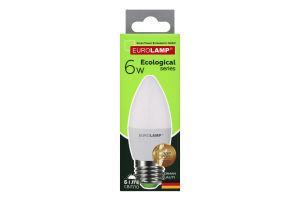 Лампа світлодіодна 6W E27 4000K LED Eurolamp 1шт