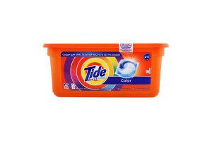Средство моющее синтетическое жидкое в растворимых капсулах Color 3 in 1 Pods Tide 30шт