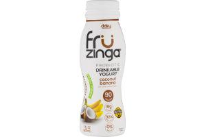 Dairy Innovations Fru Zinga Probiotic Drinkable Yogurt Coconut Banana