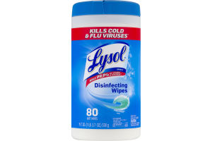 Lysol Disinfecting Wipes Ocean Breeze - 80 CT