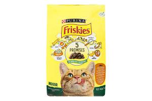 Корм сухий для котів з куркою і овочами Indoor Friskies м/у 10кг