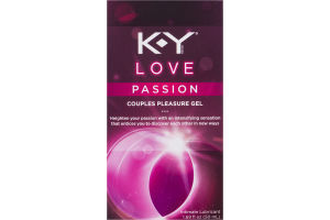 K-Y Love Passion Couples Pleasure Gel Intimate Lubricant