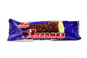 Морозиво Ласунка Лакомка в шоколад глазурі з арахіс 100г х30