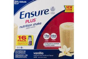 Ensure Plus Nutrition Shake Vanilla - 16 CT