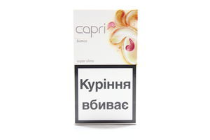 Сигареты Capri Super Slims Bianko 20шт