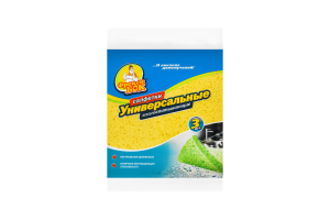 Салфетки для уборки влаговпитывающие Универсaльные 16,5х16,5см Фрекен Бок 3шт