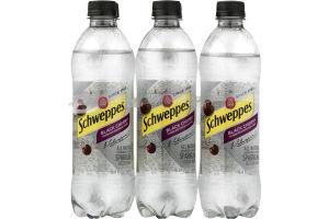 Schweppes Sparkling Seltzer Water Black Cherry - 6 PK
