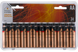 Smart Living Alkaline Batteries AA Pack - 24 CT