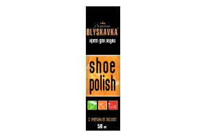 Крем для обуви с пчелиным воском Premium Blyskavka 50мл