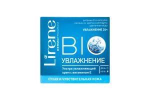 Крем для сухой и чувствительной кожи лица Bio увлажнение Lirene 50мл