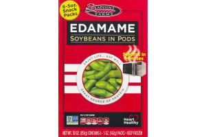 Seapoint Farms Edamame Soybeans in Pods Snack Packs- 6 CT