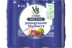 V8 V-Fusion Pomegranate Blueberry - 6 PK