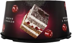 Торт Вишня з маком Brioche к/у 0.5кг