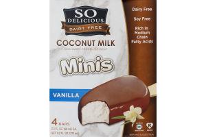 So Delicious Dairy Free Minis Coconut Milk Non-Dairy Frozen Dessert Bars Vanilla - 4 CT