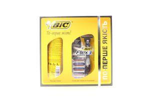 Набір Bic піна д/гоління 200мл +станок д/гоління +4картриджі