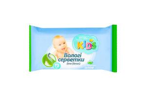 Серветки вологі для дітей з екстрактом алое Kids Хіт продукт 72шт