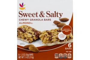 Ahold Chewy Granola Bars Sweet & Salty Almond - 6 CT