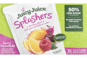 Juicy Juice Splashers Flavored Juice Beverage Berry Lemonade - 10 CT