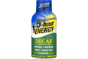 5-Hour Energy Decaf Dietary Supplement Citrus