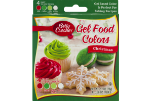 Betty Crocker Gel Food Colors Christmas - 4 CT