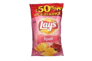 Чипсы картофельные со вкусом краба Lays м/у 200г