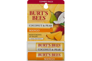 Burt's Bees Moisturizing Lip Balms Coconut & Pear/Mango - 2 PK